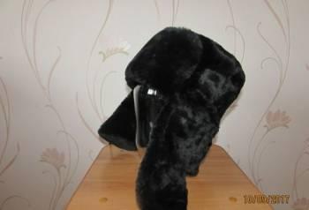 Шапка ушанка цигейковая (новая), свитер мужской с орнаментом
