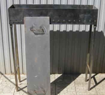 Стационарный мангал со съемными ножками (сталь 5 м
