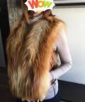 Верхняя одежда оптом от компании mirage, меховой жилет из рыжей лисы, Купино