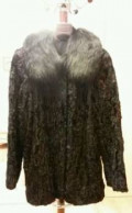 Магазин одежды мастер одежды, шуба (полушубок) из каракуля 46-48 размер, Бронницы