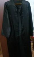 Мантия с шапкой выпускника черного цвета в пол, Вадинск