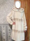 Женская одежда больших размеров в турции, шуба новая, нежно молочный сурок, Полярный