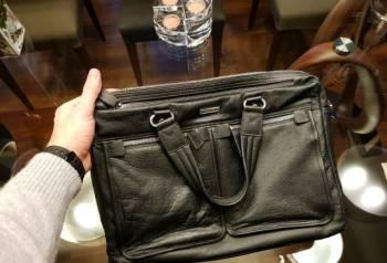 Кожаный портфель Leo Ventoni