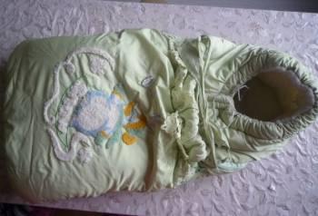 Конверт-одеяло на овчине, Белый, цена: 400р.
