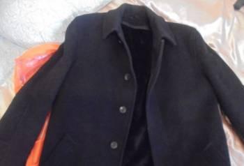 Пальто черное в идеальном состоянии, купить мужские джинсы карго