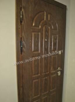 С панелями мдф металлическая дверь