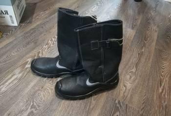 Сапоги кирзовые новые, зимние мужские кроссовки на натуральном меху и натуральной кожи