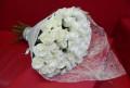 51 белая роза 70см. Доставка цветов, Ессентукская