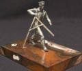 Статуэтка Землемер, бронза, серебрение, яшма(гора, Иглино