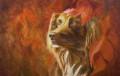 Портрет собаки-картина маслом, Правдинск