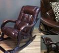 """Кресло-качалка """"Модель 77"""" ткань/кожа, Похвистнево"""