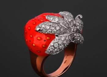 Золотое кольцо с бриллиантами 1.60ct Santamaria M