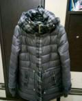 Куртка холодная осень, зима, черная куртка с меховым воротником, Череповец