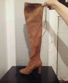 Ботфорты, онлайн магазин обуви больших размеров, Инта, цена: 1 400р.