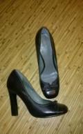 Туфли новые, бежевые сапоги на низком каблуке, Ухта