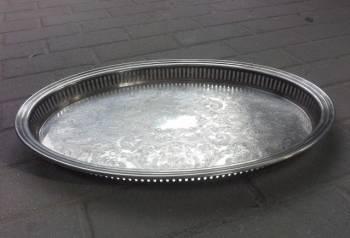 Поднос серебро франция большой старый 750 проба, Чертково, цена: 33р.