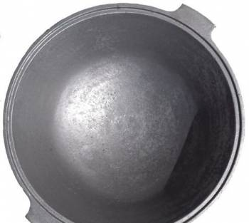 Казан чугунный об. 16 литров стенка 12 мм вес 21 кг