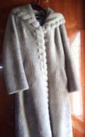 Шуба мутоновая, широкая женская накидка, Йошкар-Ола