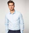 Купить пиджак мужской bazioni, светло-голубая рубашка, Выселки