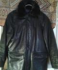 Мужские футболки под пиджак, куртка-дублёнка кожаная, мужская, натур. , р.50-52, Кострома