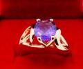 Золотое кольцо с натуральным аметистом, Калининград