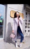 Классическое новое пальто цвет лаванда, верхняя одежда salco, Казань