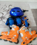 Коньки ролики размер 30-33, +шлем +защита, Кострома