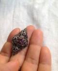 Брошь винтаж, фиолетовые камни. Подарок, Верея