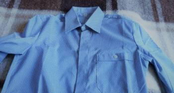 Рубашка новая с длинным рукавом, жилетка из чернобурки цена, Алексеевская, цена: 200р.
