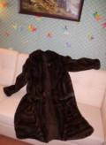 Шуба из меха норки (Италия), брюки в полоску uniqlo, Мурманск