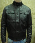 Эко кожа мужская куртка на молнии, футболка для рыбалки купить, Никольское