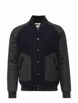 Шерстяная куртка бомбер, мужской пиджак gap синий