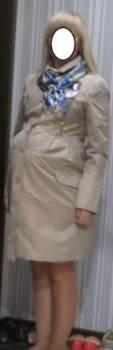 Плащ для беременных, размер 44, юбка колокол со встречными складками, Вологда