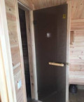 Стеклянная дверь для бани и сауны, Грэсовский
