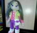 Кукла вязаная с волосами, одеждой и сумочкой, Инжавино