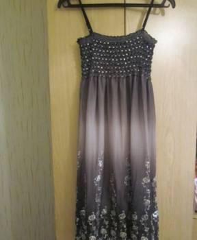 Платье белое с золотом купить, сарафанчик ombre в пайетках новый, Яранск, цена: 800р.