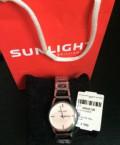 Часы Sunlight новые на металлическом браслете, Киевский