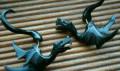 Новые серьги обманки из рога буйвола Драконы, Москва