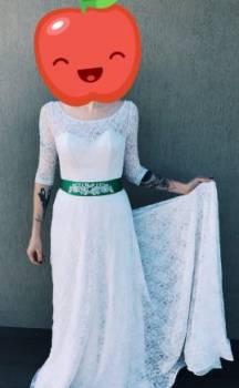 Свадебное выпускное платье, платье с запахом и воланами, Белгород, цена: 10 000р.