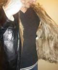 Куртка зимняя (кожа, мех натуральные), майка женская cle lm27-587\/1 clever, Зверево