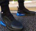 Мужская обувь тимберленд каталог, кроссовки Nike Air 270 black blue, Краснодар