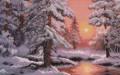 """Картина, вышитая крестом """"Морозная сказка"""", Вологда"""