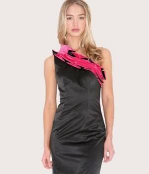 Платье на одно плечо, размер L (Англия), женское нижнее белье черное кружево