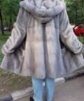 Брендовая одежда купить через интернет, шуба норковая голубая Новая 50-52 Италия, Ногинск