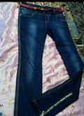 Джинсы женские, р-р 44-46, шерстяное пальто с меховым воротником купить, Ивановская