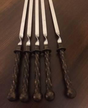 Набор кованых шампуров. тип 3. Отличный подарок
