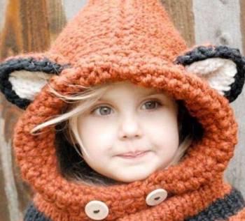 Шапка-шлем для девочки с ушками