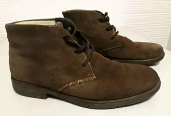Ботинки мужские зимние замшевые Rieker, бутсы с носком заказать