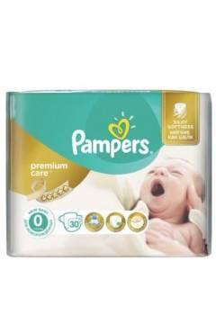 Подгузники Pampers premium care 0 (1-2, 5 кг) 30 шт