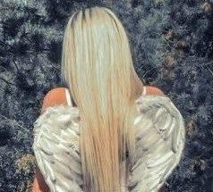 Крылья Ангела из перьев для фотосессий 45х35 см